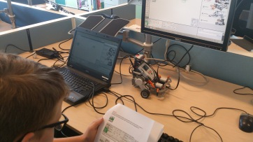 Attaching the LEGO robot