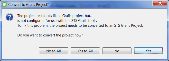 GGTS Convert to Grails project