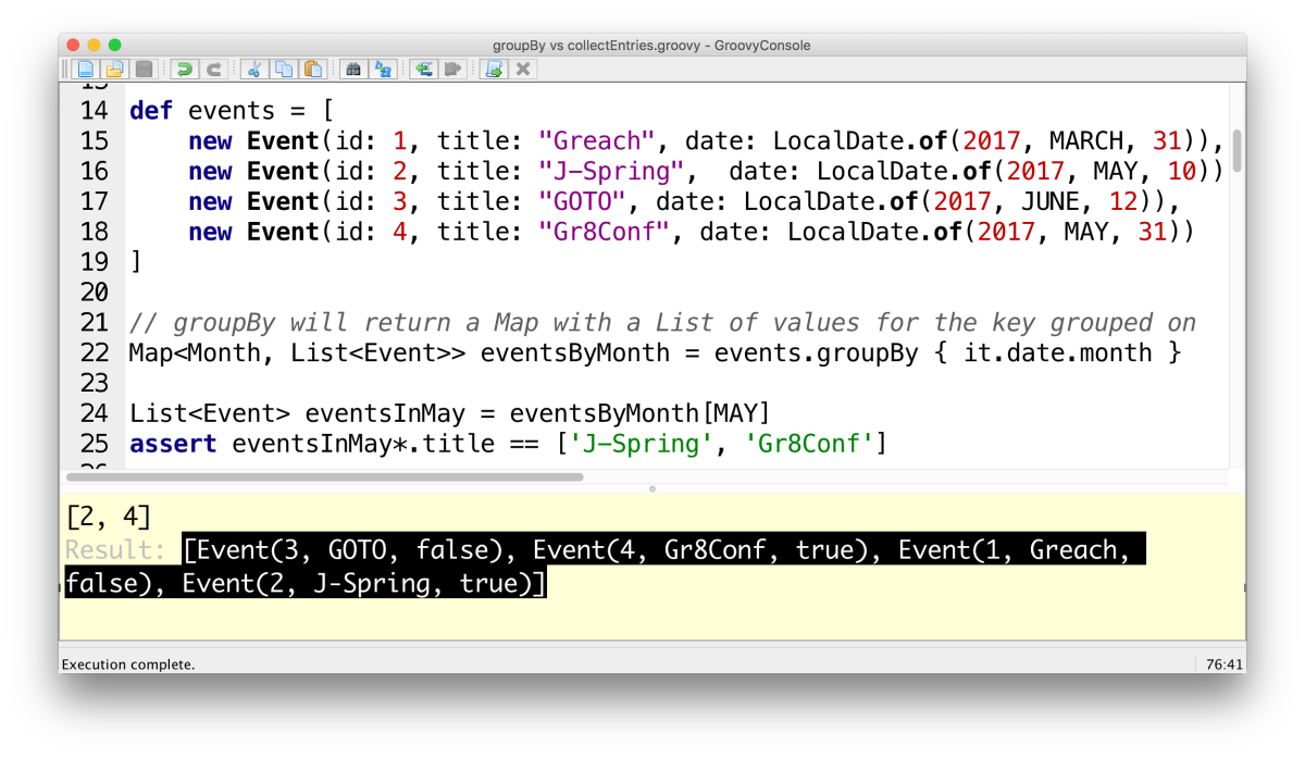 Groovy: Grouping using groupBy vs collectEntries – Ted