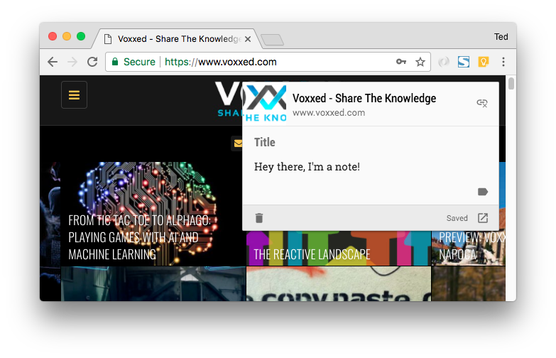 Ted-Vinke-X-Mas-Google-Keep-Chrome-Extension